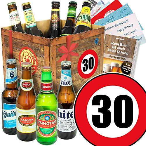 30. Geburtstag - Bier Set mit 9 Bieren der Welt - Bier Geschenke für Männer