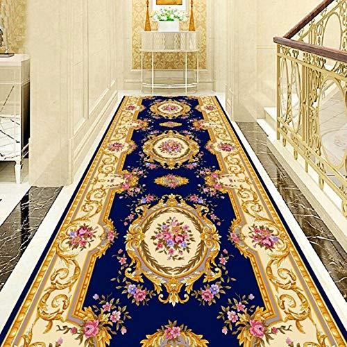 LLAAIT Tappeti corridoio Stile Europeo Hotel corridoio Lungo corridoio Tappeto Ingresso casa Tappeto Scala Tappeti per Matrimoni Tappeto corridoio Rosso, 4, Larghezza 1.1m Lunghezza 4m
