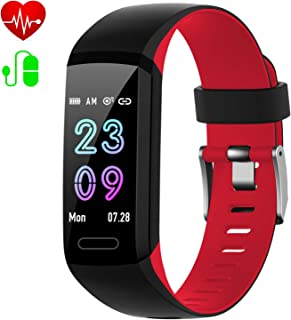 Fitness Tracker,  Activity Tracker with Heart Rate & Blood Pressure & Sleep Monitor, IP67 Waterproof [2019 Version] Android iOS Smart Watch, Pedometer Calorie Counter, Call/SMS Reminder for Kids Women Men