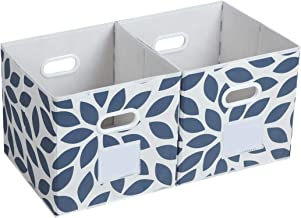 Fabric Storage Bins Cubes Baskets Containers with Dual Plastic Handles for Home Closet Bedroom Drawers Organizers, Foldabl...