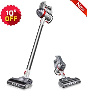 Cordless Vacuum, Deik Stick Vacuum Cleaner, 11 Kpa Powerful Suction 4 in 1 Lightweight Handheld Vacuum with Upgraded Motor and LED Brush for Pet Hair Home Hard Floor Carpet Car Cleaning