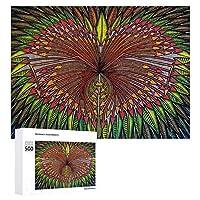 INOV 肉食動物 芸術 現代 タブロー デザイン ジグソーパズル 木製パズル 500ピース 38 x 52cm 人気 パズル 大人、子供向け 教育玩具 ストレス解消 ギフト プレゼントpuzzle