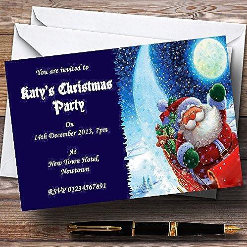 online al mejor precio azul de Papá Noel de Navidad personalizado personalizado personalizado invitaciones de fiesta  punto de venta