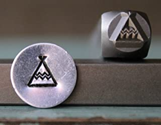 6mm Southwest Indian Teepee Metal Punch Design Jewelry Stamp