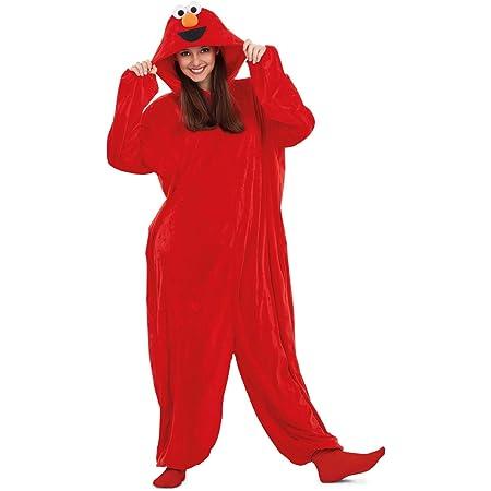 Barrio Sésamo Disfraz Pijama de Elmo para Adultos