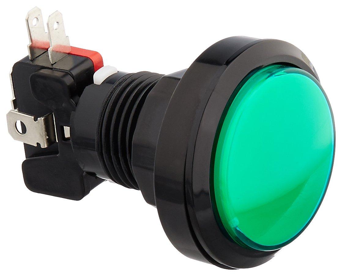 Uxcell DC 12V NO NC LED 灯圆形瞬时按钮开关