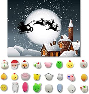 Hot Sale!DEESEE(TM)🌸🌸24PC Christmas Toys Mini Cute Squeeze Funny Toy Soft Stress and Anxiety Relief Toys DIY Decor C