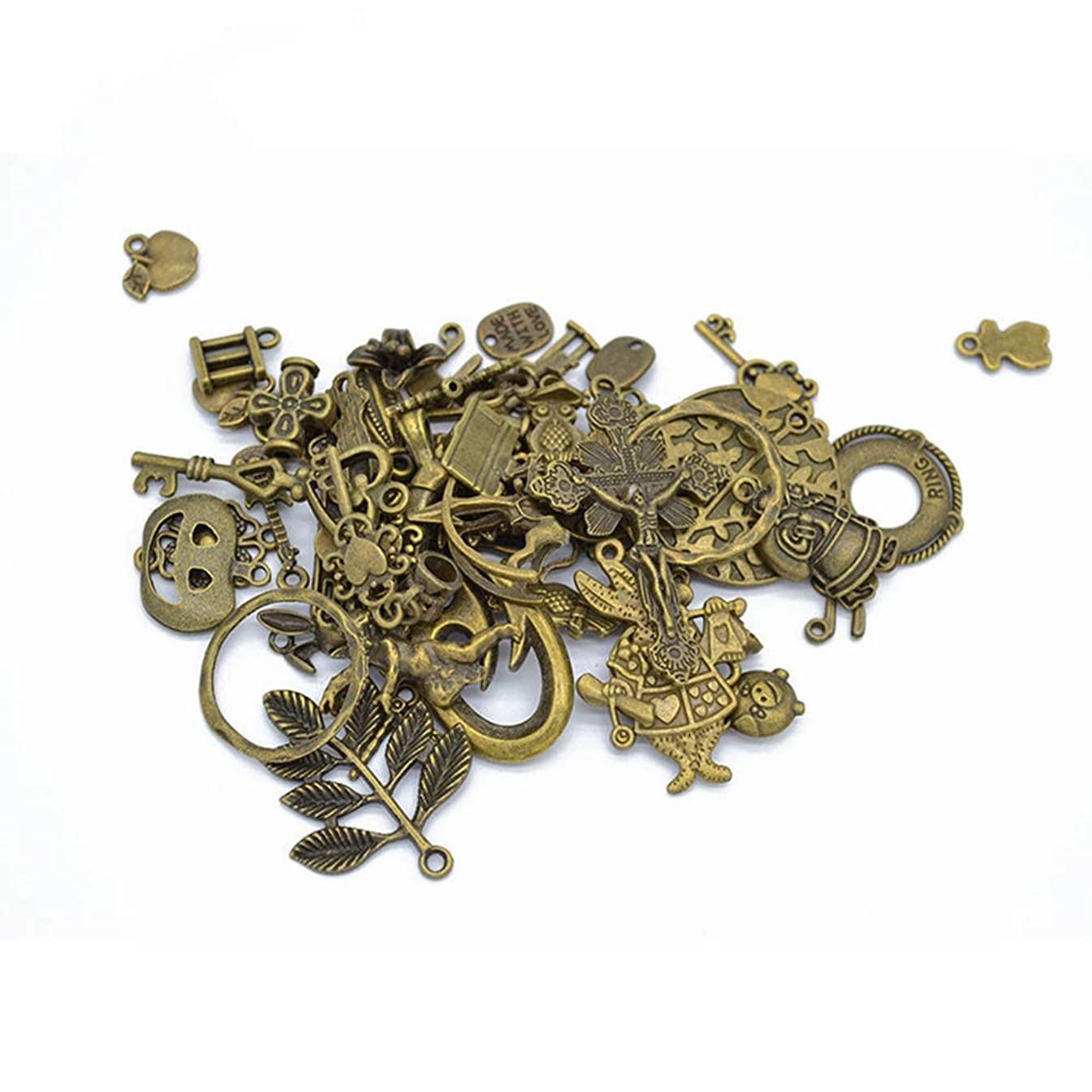 50 Grams of Alloy Jewelry DIY Clothing Jewelry Accessories Mixed(Ancient Cyan)
