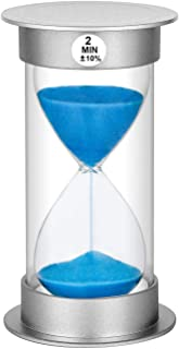 Sand Timer 2 Minute Hourglass Timer, Plastic Sand Clock 2 Minutes, Large Sand Watch 2 Minutes, Hour Glass Sandglass Timer ...