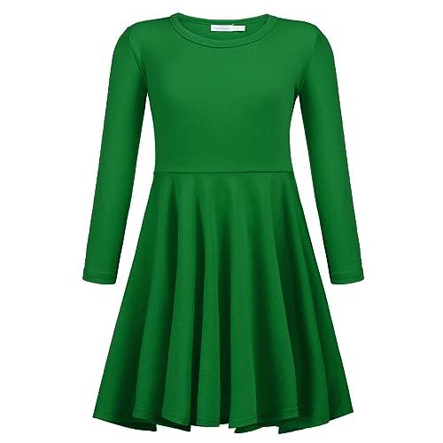 8493f1e614 Arshiner Girls Long Sleeve Dress Hi Lo Twirly Skater Party Dress 2-12 Years