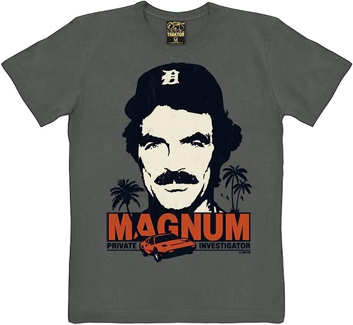 Maglietta magnum p.i. girocollo - grafite t-shirt magnum traktor 660-2584/090