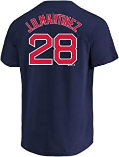 J.D. Martinez Boston Red Sox Navy Blue Youth Name and Number Shirt