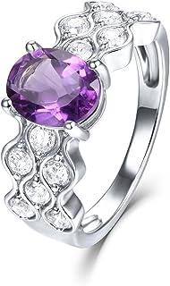 خاتم وعد من الفضة الإسترلينية عيار 2.38 قيراط بيضاوي الشكل من إي إل أونو للنساء من الفضة الاسترلينية 925