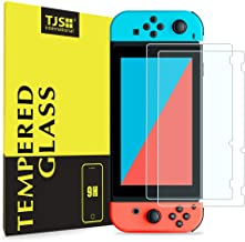 Nintendo Switch Screen Protector, TJS [Tempered Glass] [2-Piece] [Works While Docking] - 0.3mm Thickness/Bubble Free/Ultra Clear/9H Hardness/Anti-Scratch/Shatterproof/Anti-Fingerprint