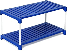 Foldable Shoe Rack Multipurpose Rack Shoe Racks for Home with 2 Steps, (Blue) by Dhani Creations