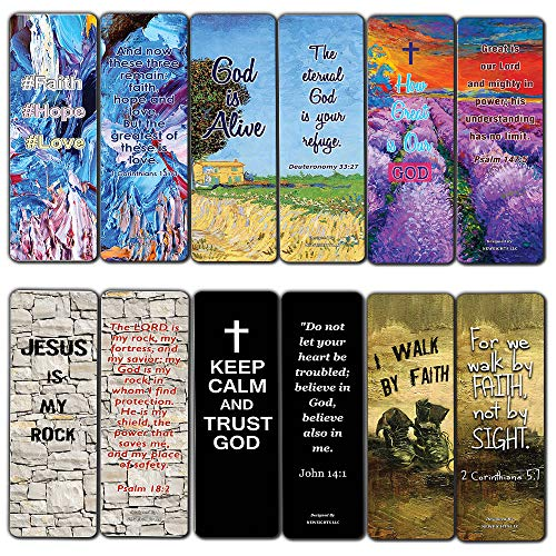 Favorite Bible Verses Bookmarks Cards 60-Pack- Reassuring us with Gods Message of Love and Hope - Prayer Cards Religious Christian Gift to Encourage Men Women Teens Boys Girls Kids