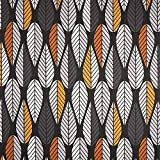 Fabulous Fabrics Halbpanama schwarz, Pflanze, 140cm breit