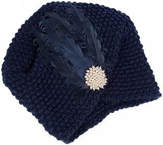 URIBAKE Women's Knitting Wool Crochet Hat Beanie Turban Head Ladies' Wrap Cap Pile Cap