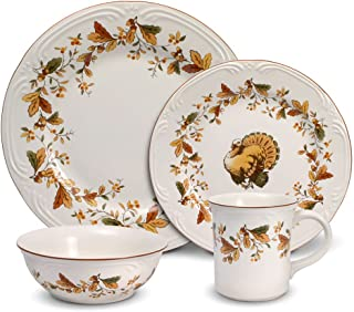 Pfaltzgraff Autumn Berry 48 Piece Dinnerware Set, Service for 12