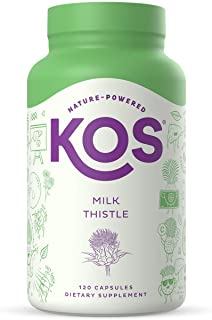 Sponsored Ad - KOS Milk Thistle Capsules - 500mg Potent Milk Thistle Seed Extract - Powerful Detox Enhancer, Promotes Heal...