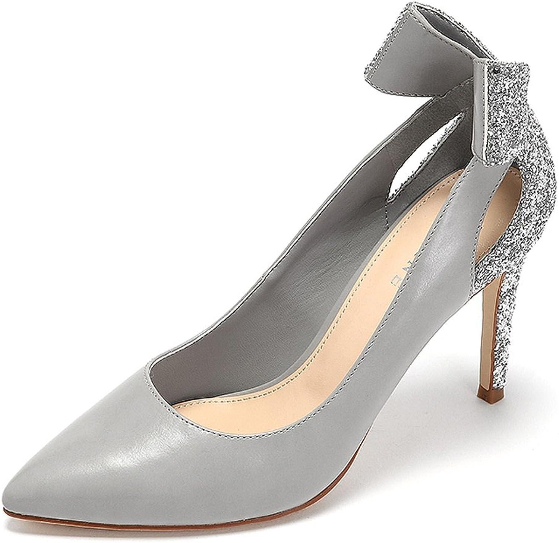 LI SHI XIANG SHOP Damen high-Heeled Schuhe Elegante dünne Abschnitt Abschnitt Abschnitt süße Bowknot Trend Schuhe  dd503e