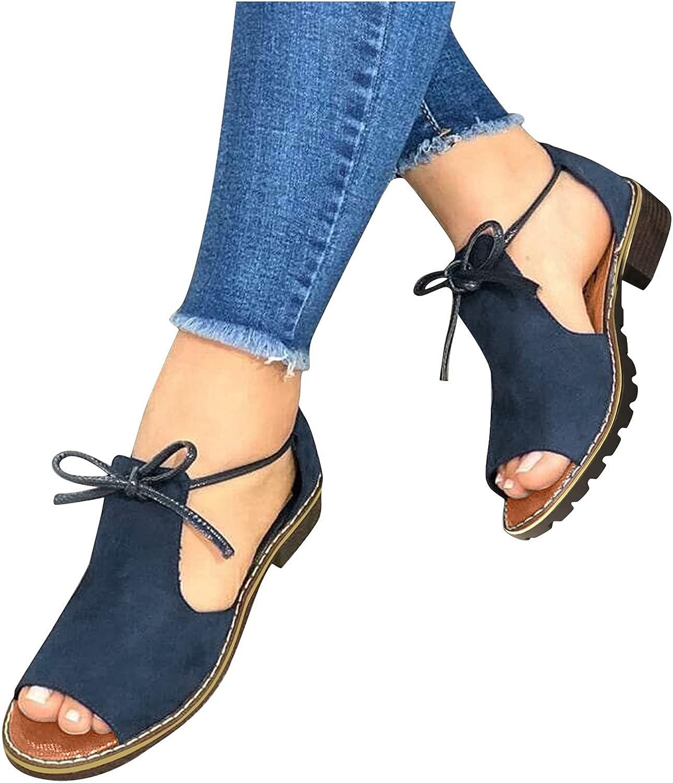 Women Ankle Strap Sandals Flat Flip Flops Casual Open Toe Summer Outdoor Beach Thong Sandals