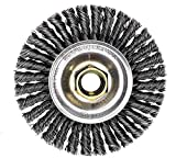 Weiler 13131 4' Roughneck Max Stringer Bead Wire Wheel, 0.020' Steel Fill, 5/8'-11 UNC Nut (Pack of 5)