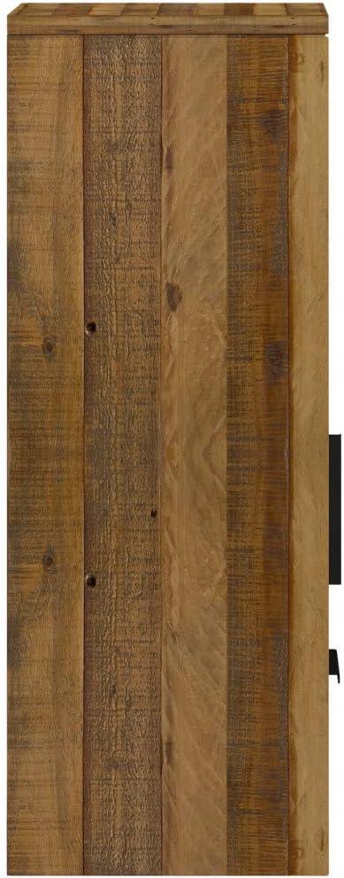 H/ängeregal passend zum TV Lowboard Woodkings/® Wandregal Auckland massiv Holz H/ängeschrank 1T/ür//1Schub//1Fach Holzregal Holz - Akazie Regalsystem H/ängeregal Wohnwand Modul Holzm/öbel