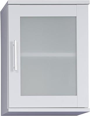 Maisonnerie Armoire de Toilette avec Espace de Rangement, Orlando, 35 x 48 x 22 cm, Blanc givré Déposition de Verre