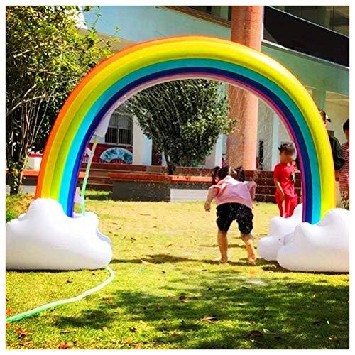 Opblaasbare regenboog fonteinpomp Strooi en plons speelmat, waterspeelgoed voor kinderen/hond/kat/huisdieren, zomerspeelgoed voor gezinsactiviteiten in de buitenlucht