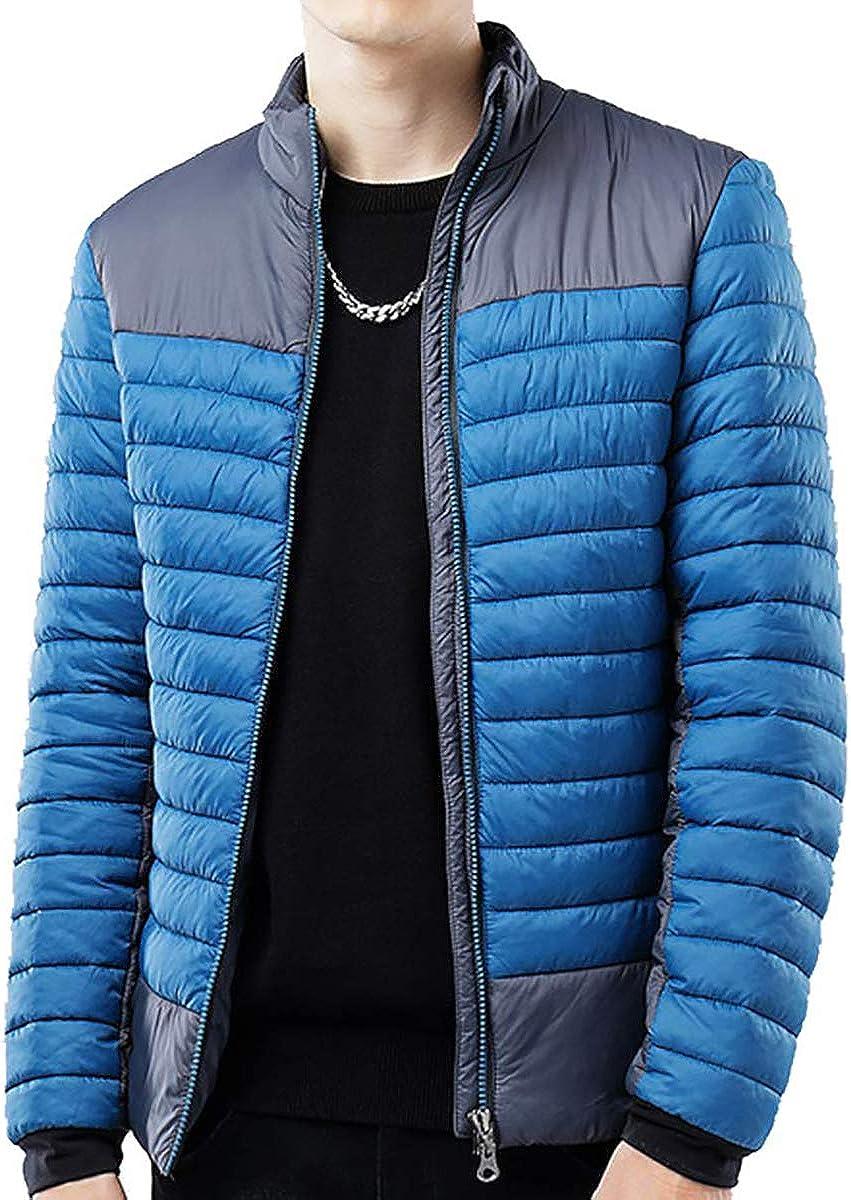 Puffer jackets Men Lightweight Puffer Jacket Water Resistant Quilted Puffer Coat