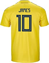adidas James #10 Colombia Official Home Men's Soccer Jersey World Cup Russia 2018
