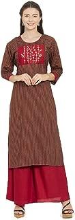 Delisa New Multi Designer Women Straight Multi Design Printed Kurti with Plazzo for Women Tunic Top 3/4 Sleeve Dress Plzzo
