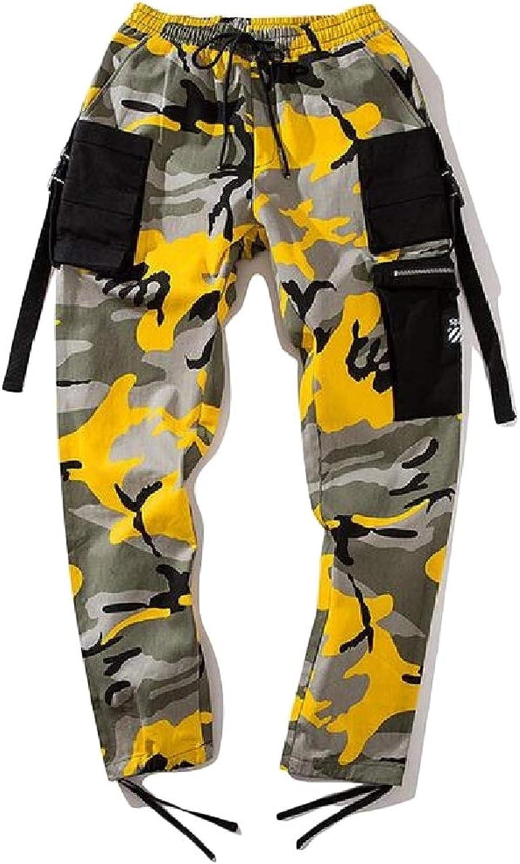 a6b2acdaf2da72 Etecredpow-CA Mens Hip Hop Casual Jogger Trousers Camo Elastic Elastic  Elastic Waist Cargo Pants c85d11