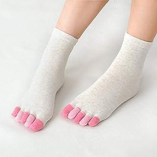 Swiftswan Calcetines de Cinco Dedos de los pies, Colores Variados, diseño de Cara tímida, tamaño Normal, Calcetines Informales de algodón