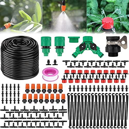 SaiXuan Kit per Irrigazione a Goccia,Kit Irrigazione Serra Sistema di Irrigazione da Giardino 158...