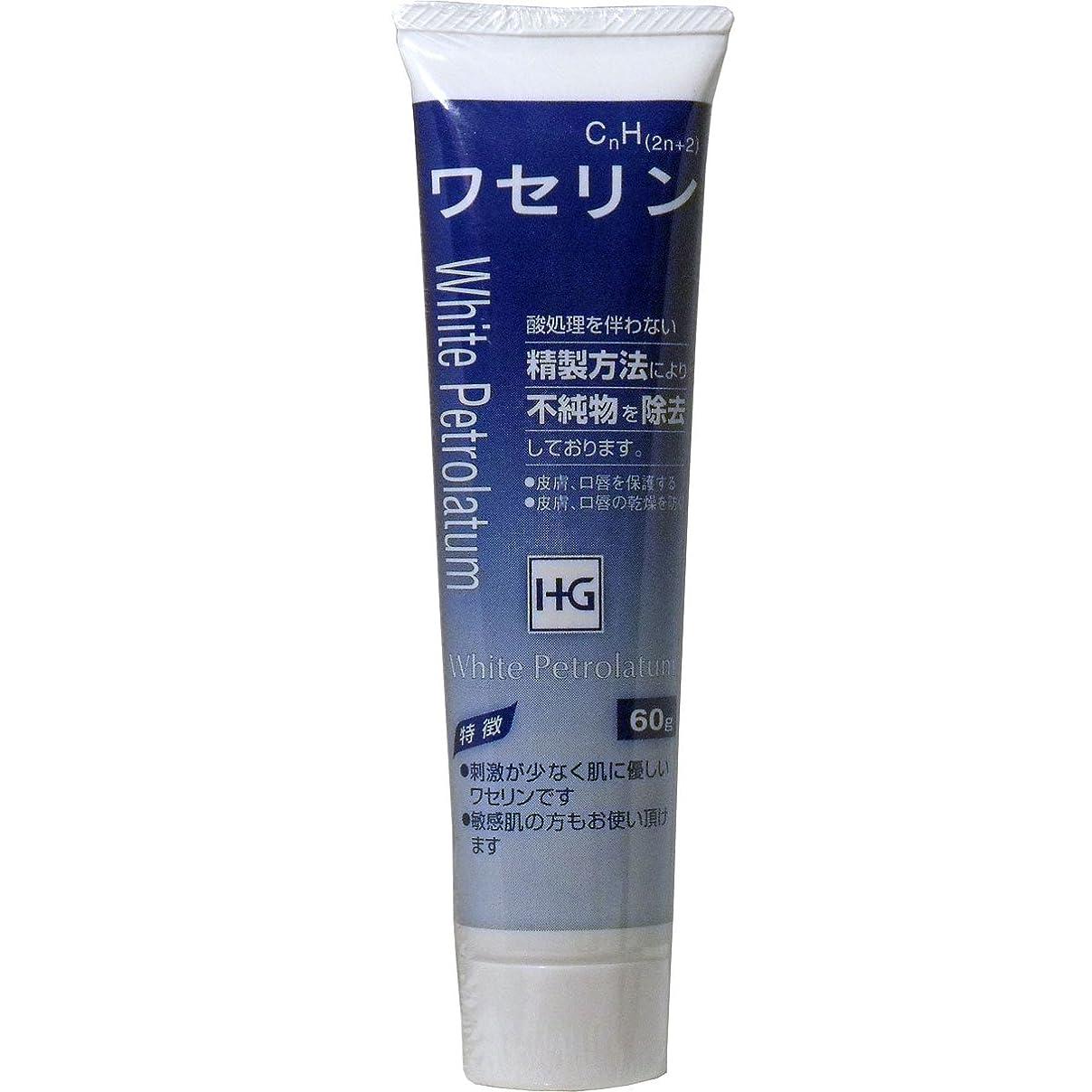 ふさわしいタンカー騒乱皮膚保護 ワセリンHG チューブ 60g入 ×3個セット
