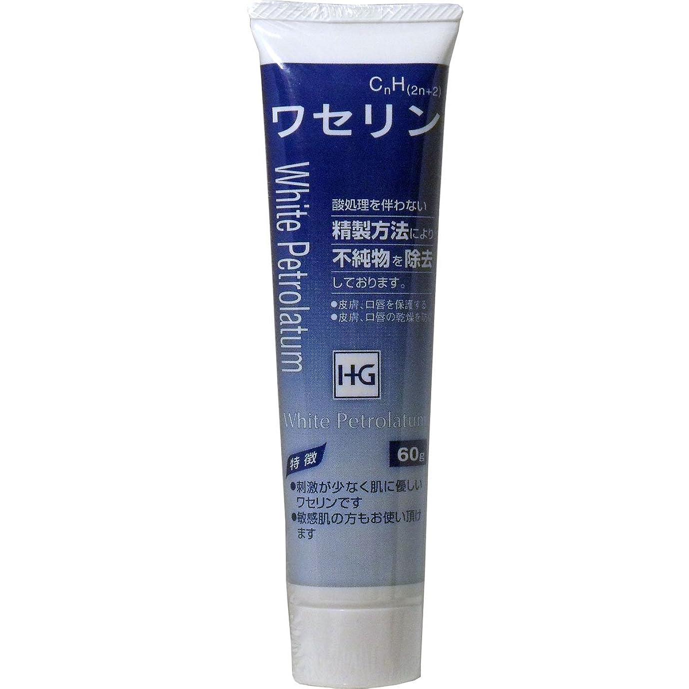 職人振るう拍手する皮膚保護 ワセリンHG チューブ 60g入 ×3個セット