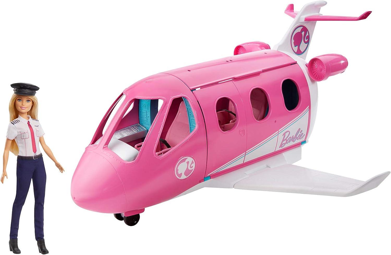 Barbie GJB33 - Reise Traumflugzeug Flugzeug mit Puppe und Zubehr, Puppen Spielzeug ab 3 Jahren