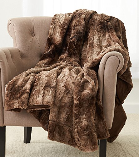 A luxurious throw blanket makes a cozy gift for moms who say they don't want any gifts