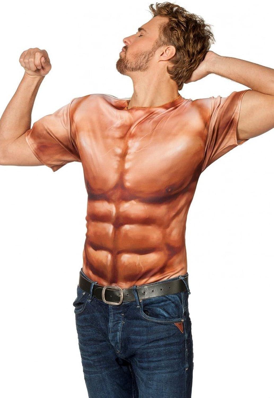 Fotorealistisches T-Shirt Bodybuilder Muckies Sixpack Muskelpaket Kostüm Herren, Größe XL B01AKCCYBK Qualifizierte Herstellung    Erschwinglich