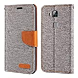 Huawei Ascend G8 Case, Oxford Leather Wallet Case with Soft
