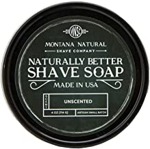MNSC Unscented Artisan Small Batch Shave Soap for a Naturally Better Shave - Smooth Shave, Hypoallergenic, Prevent Nicks, ...