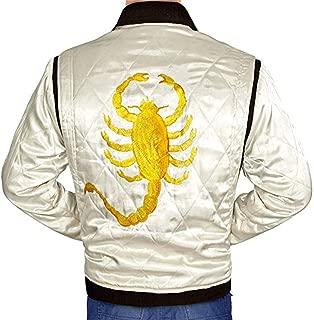 OBX Fashion Famous Drive Scorpion Jacket by Ryan Gosling – Satin Fabric