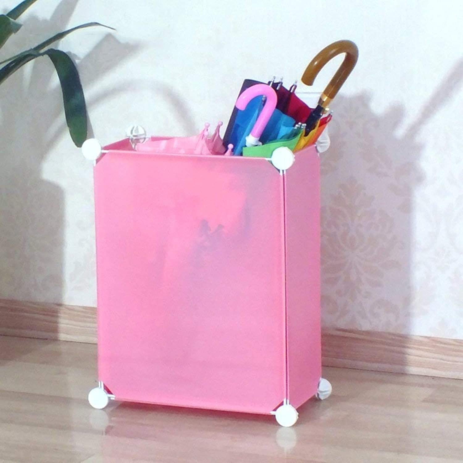 Achang Household Umbrella Stand Hotel Lobby Hanging Umbrella Shelf Storage New Creative Umbrella Tube (color   Pink)