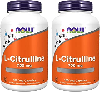 Now Foods L-Citrulline 750 mg - 180 Capsules (Pack of 2)