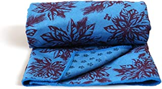 CXQ Yoga Blanket Widening Pad Non-Slip Yoga Towel Towel Dark Blue Maple Leaf Printing Yoga Sweat Towel