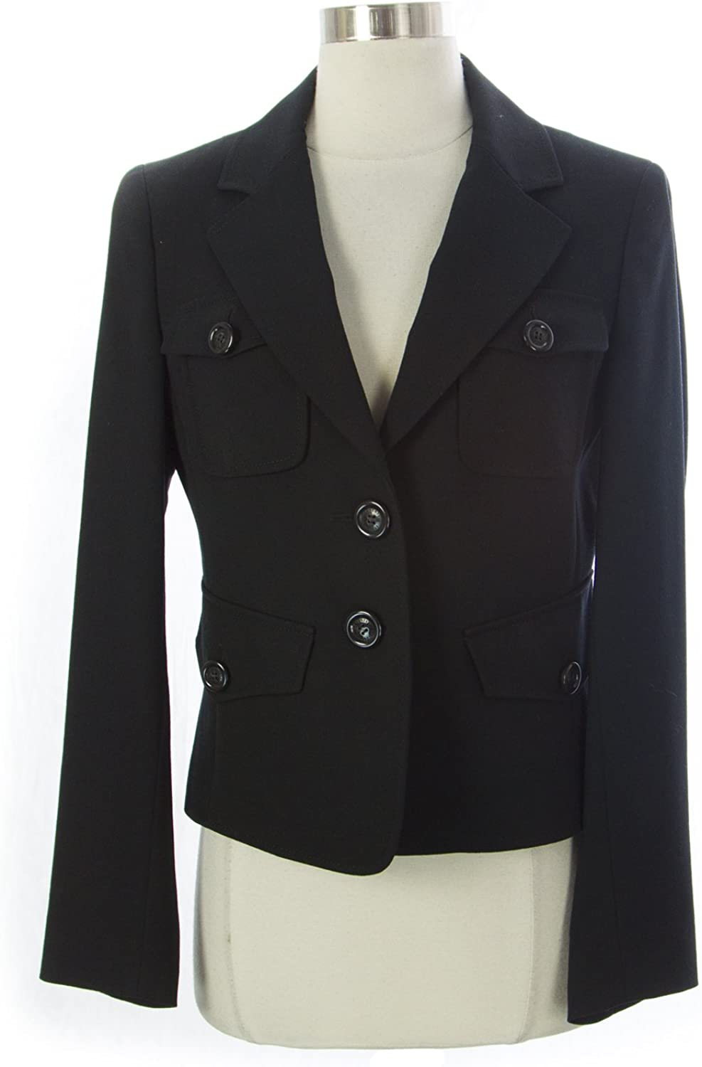 SEVENTY Women's Long Sleeve Blazer w Pockets IT 42 Black