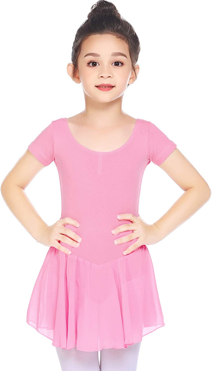 Boyoo Girl's Max 68% OFF Ballet Dance Dress Tutu Classic Short Sleeve SEAL limited product