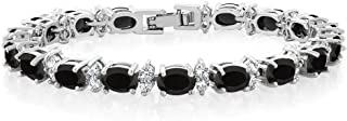 20.00 Ct Gorgeous Oval and Round 7inches Sparkling Cubic...